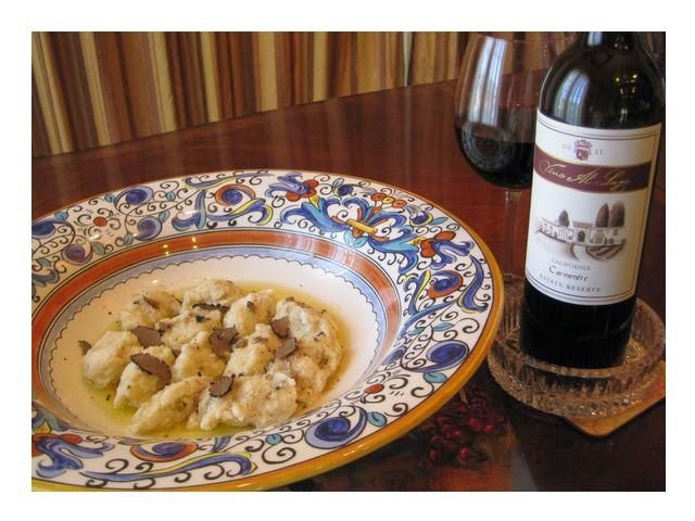 Gnocchi (Rocotta with Black Truffles) recipe image