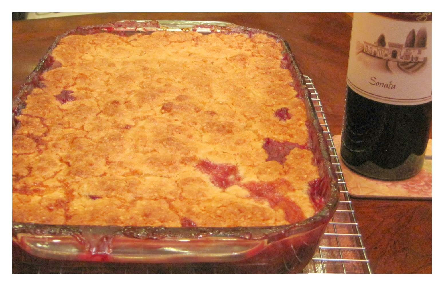 Peach and Blueberry Crisp with Almond and Lemon Topping recipe image